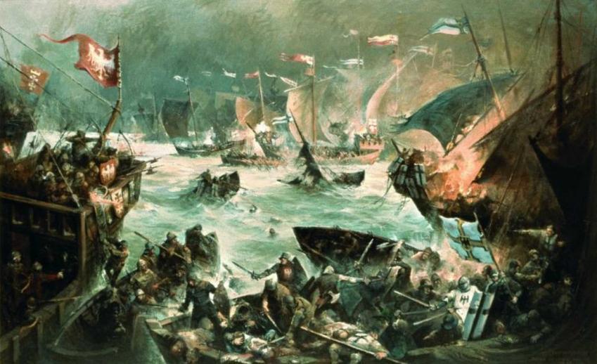 Bitwa morska w Zatoce Świeżej, czyli na Zalewie Wiślanym, a także data wydarzenia, strony i przyczyny konfliktu