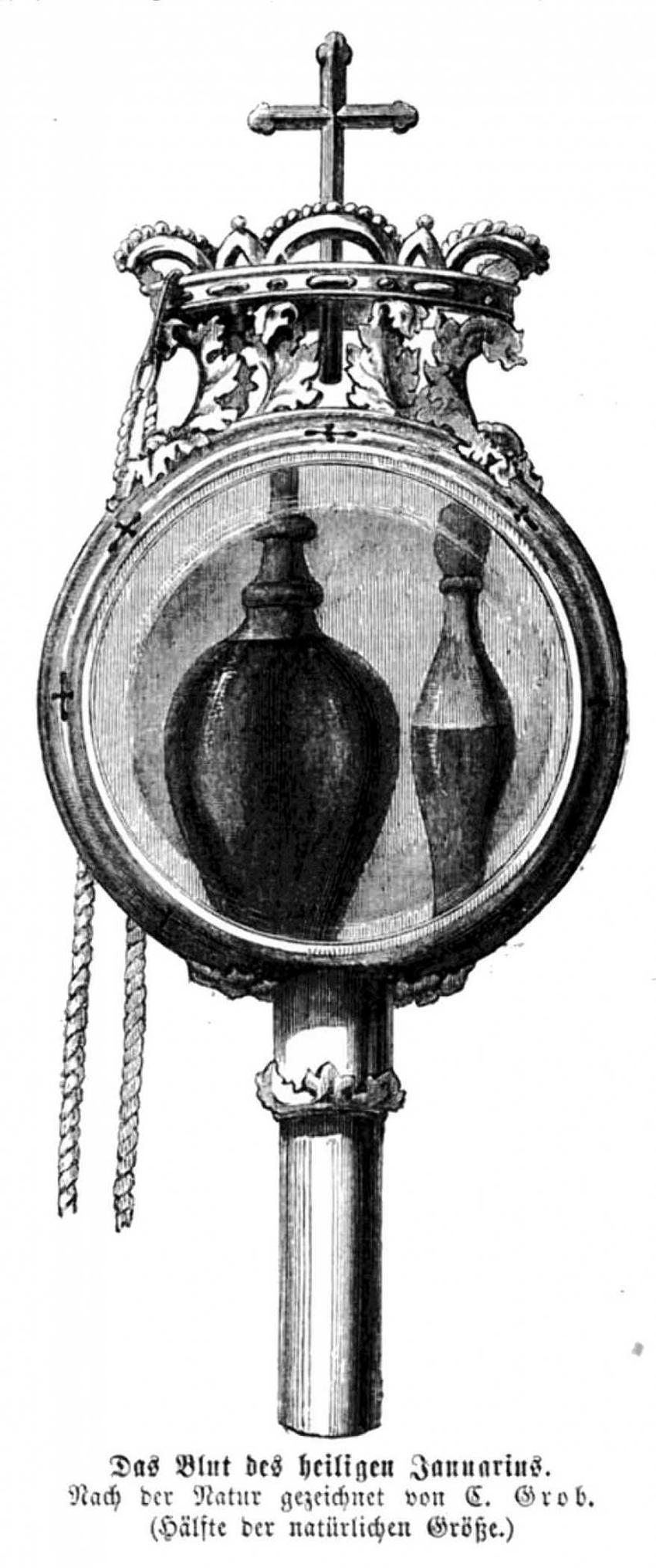 Relikwiarze z krwią świętego Januarego, a także inne kościelne relikwiarze i artefakty spełniające cuda