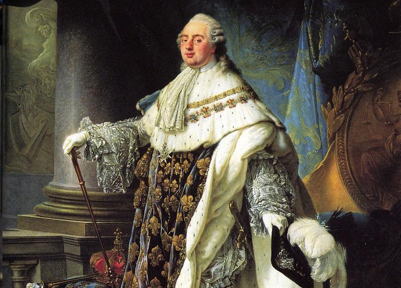 Ludwik XVI król Francji został stracony przez swoich poddanych w  1793 r - wizerunek króla pędzka Antoine Calleta