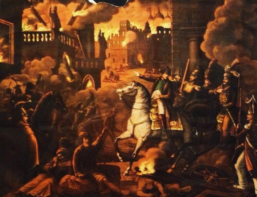 Wyprawa Napoleona na Rosję to seria wielkich bitew i starć z rosyjskimi wojskami. Napoleon pod Moskwą na obrazie Opalińskiego