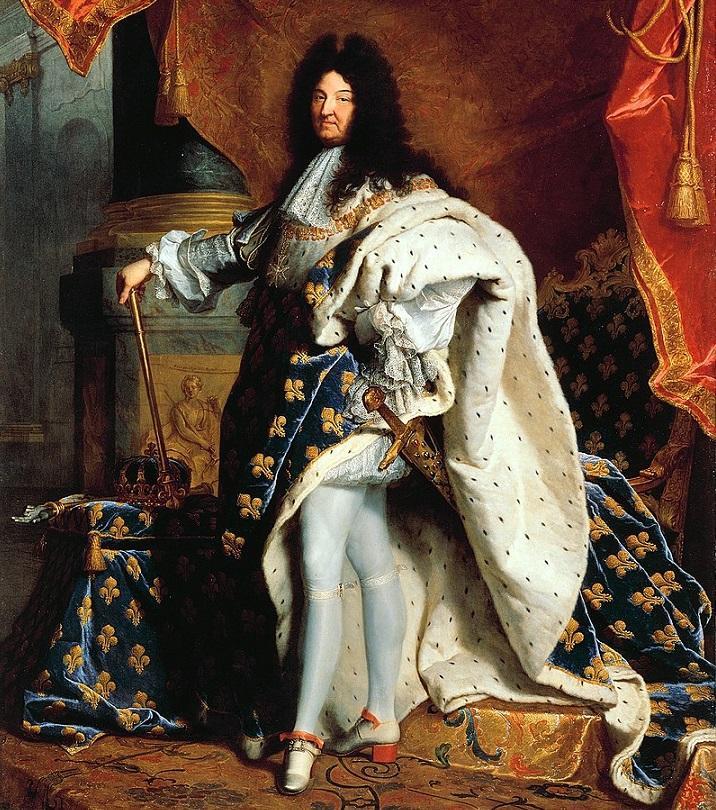 10 najważniejszych osób w historii politycznej świata - Ludwik XIV król i władca absolutny Francji na obrzie Hyacinthe Rigaud