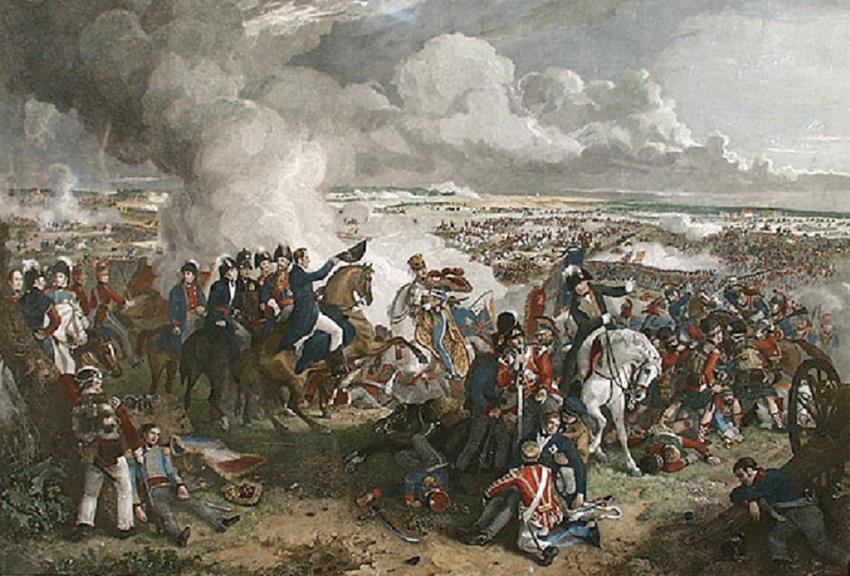 Bitwa pod Waterloo była jedną z najważniejszych bitew w historii Europy. Obraz Robinsona przedstawiający przebieg bitwy