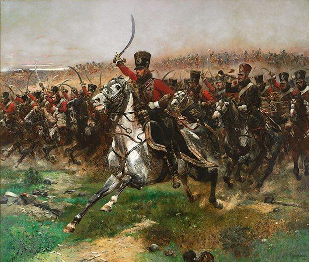 Bitwa pod Waterloo i francuska jazda konna na obrazie Vive L'Empereur! Edouard Detaille