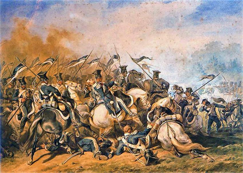 Bitwa pod Ostrołęką z 26 maja 1831 r. to jedna z największych bitwew Powstania Listopadowego. Obraz Bitwa pod Ostrołęką Juliusza Kossaka